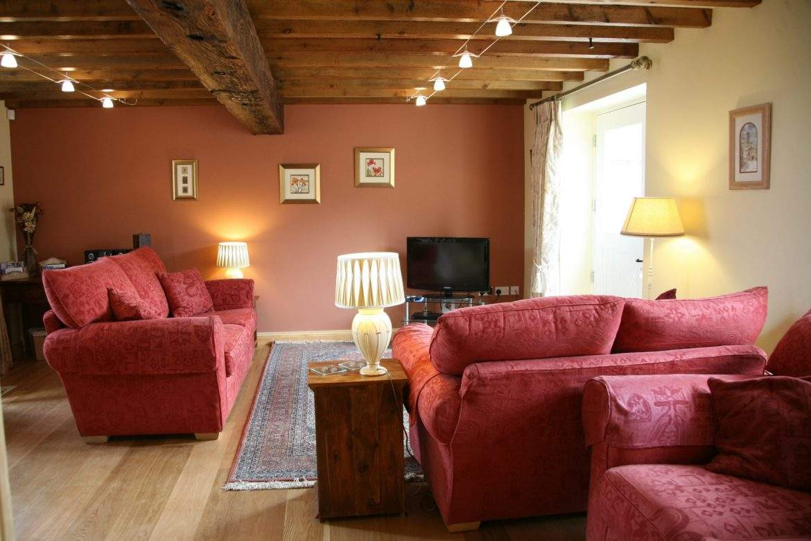 living room in the barn house at broadgate farm cottages
