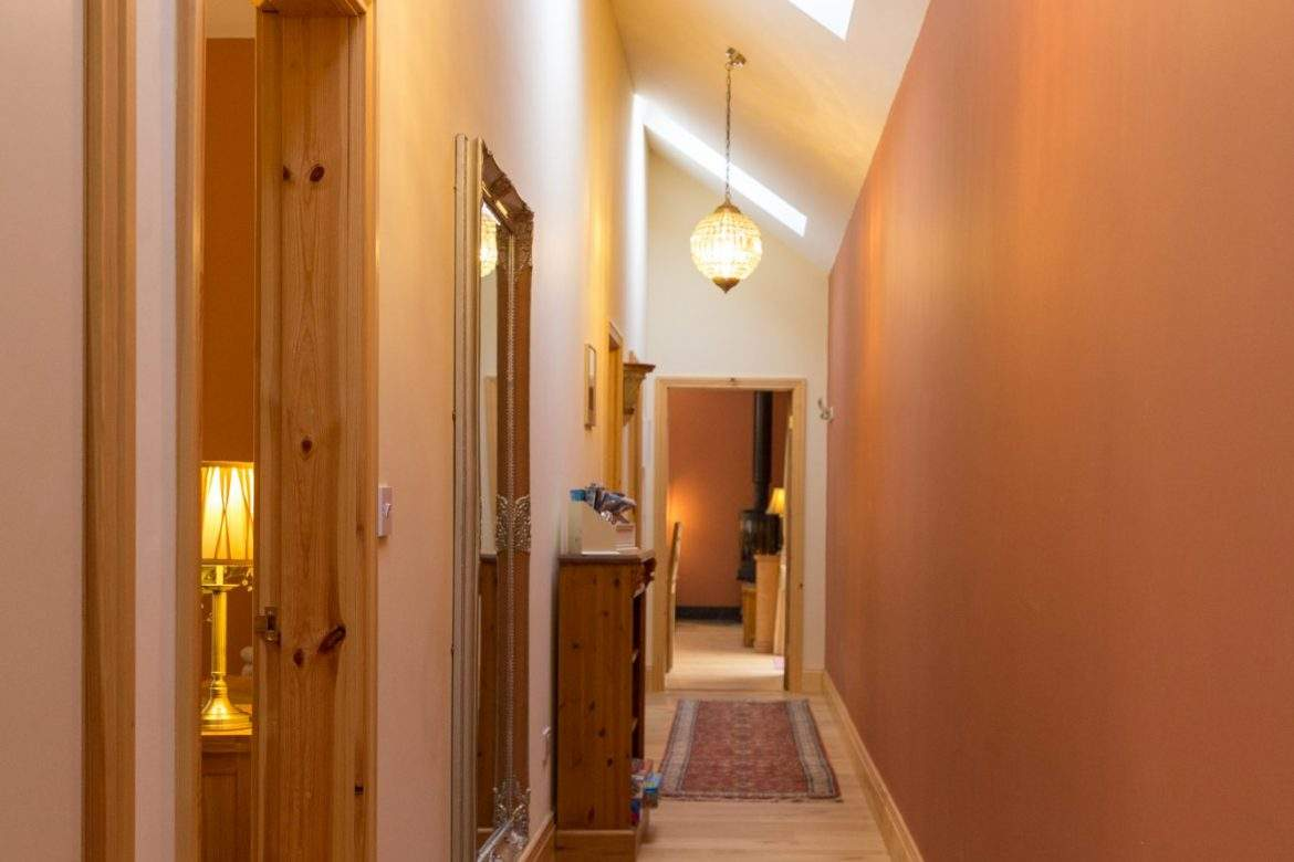 hall in corridor at broadgate farm cottages