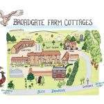 Map of the cottages at Broadgate Farm