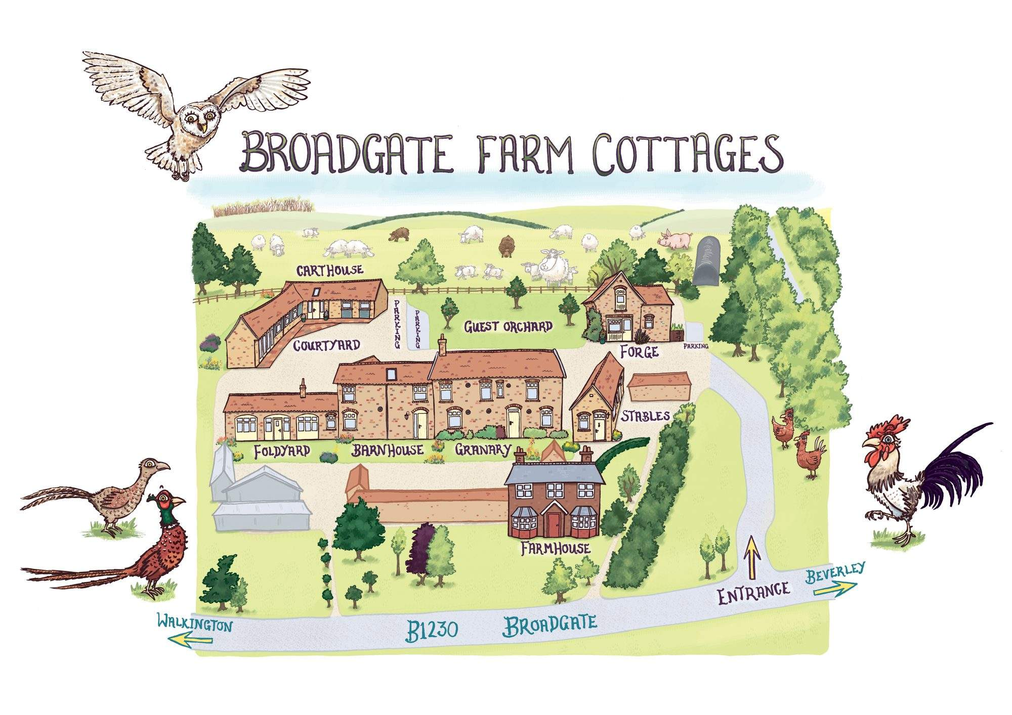 Cottage Location Map 2