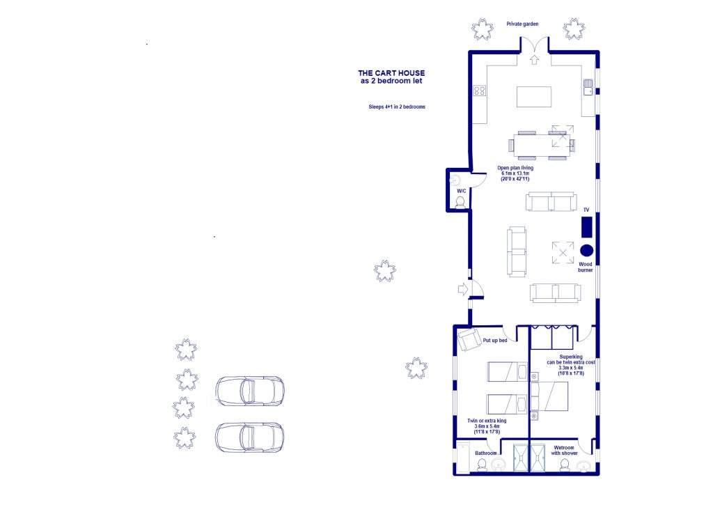 floor plan for Cart House