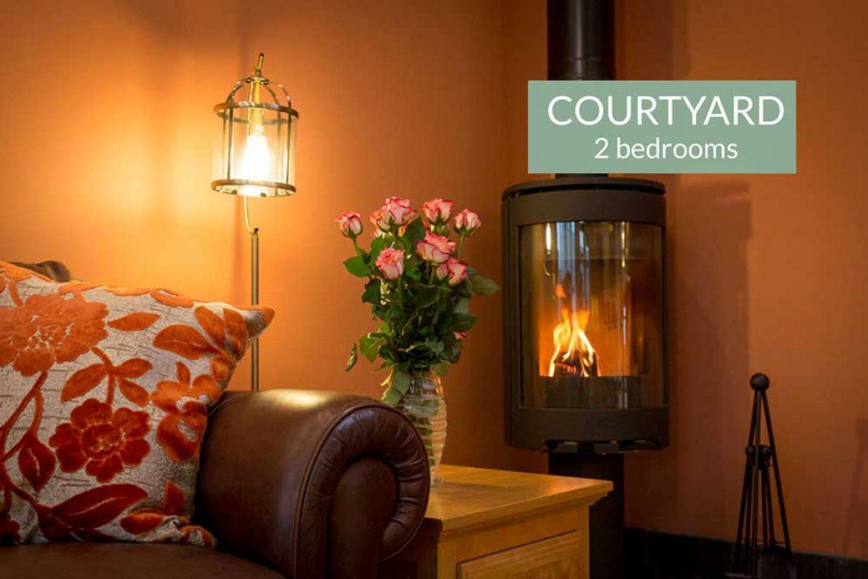Courtyard cottage woodburning stove