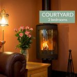 Courtyard cottage woodburning stove