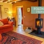 Foldyard living with woodburner