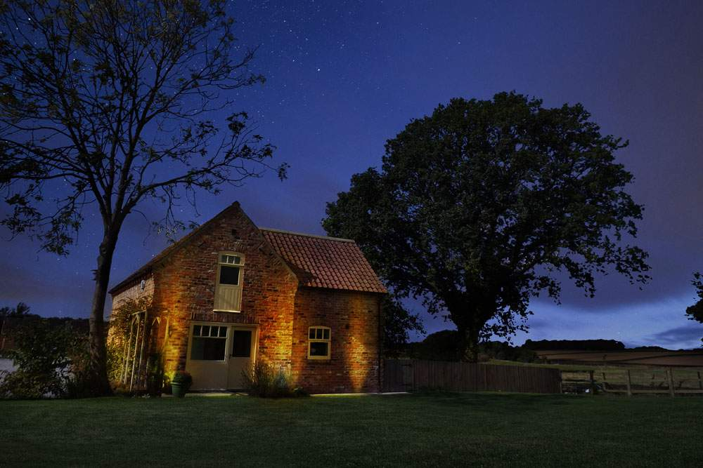 Forge cottage by night