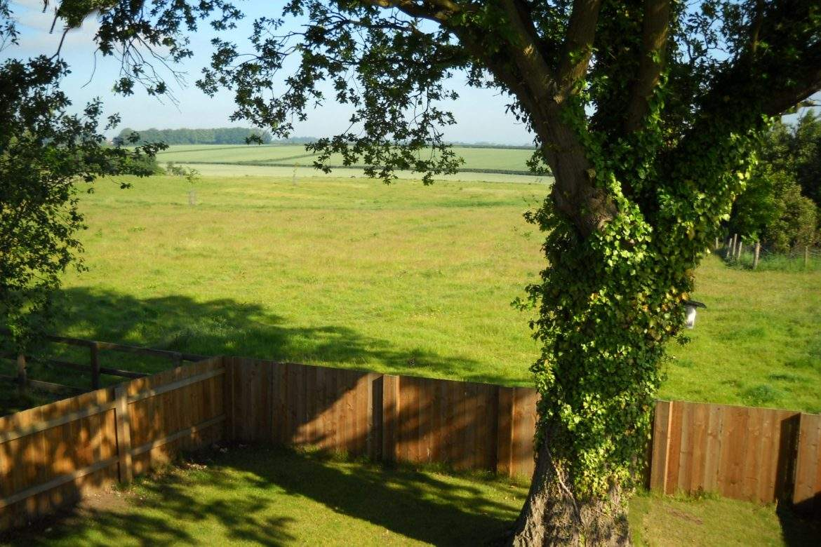 view from the bedroom in the forge at broadgate farm cottages