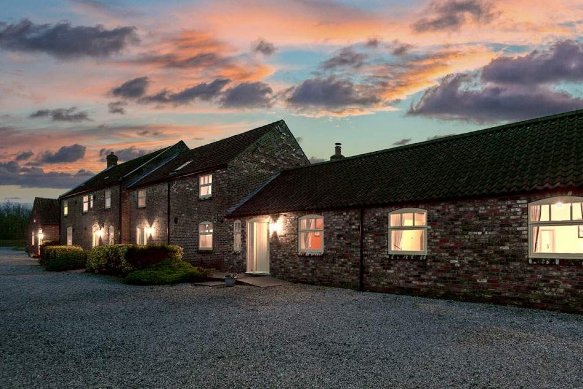 Dusk at the cottages