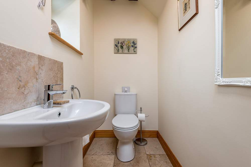 cloakroom with sink and wc