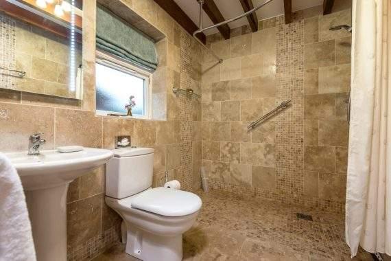 natural stone tiled wetroom