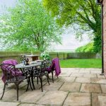 table in your own private garden
