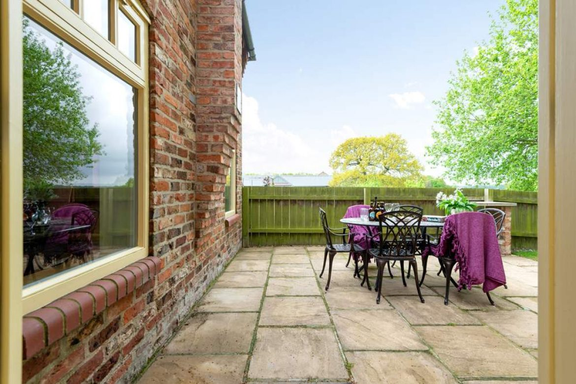 patio outside the french doors