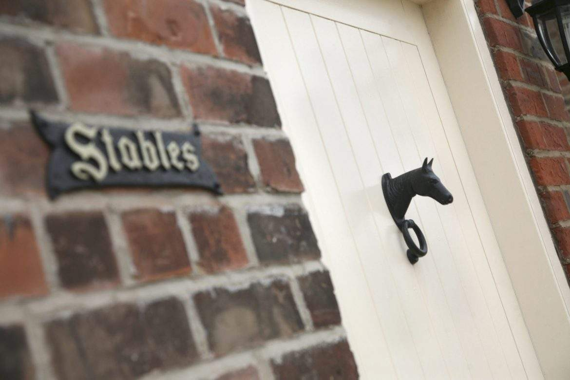 stables door knocker at broadgate farm cottages