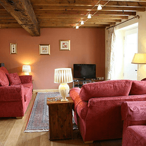 barn house living room