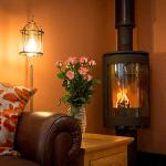 Courtyard log burner