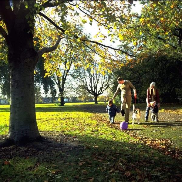 family walking in East Park