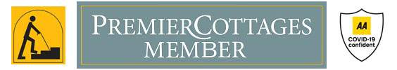 Premier cottages and accessible logos