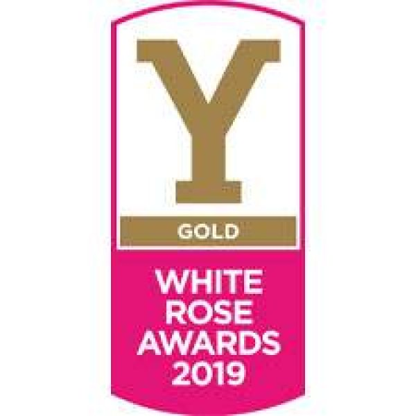 white rose award gold winner logo