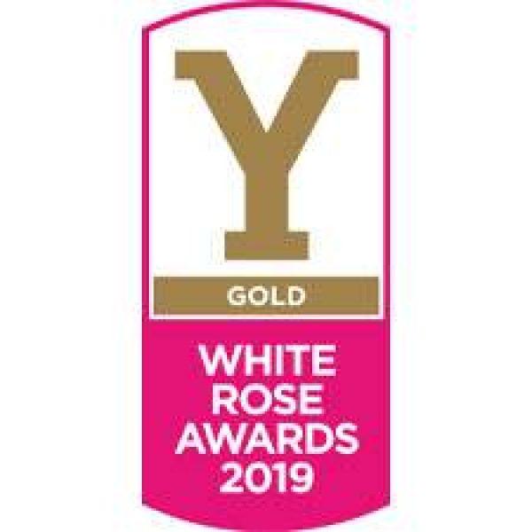 white rose award gold winner logo