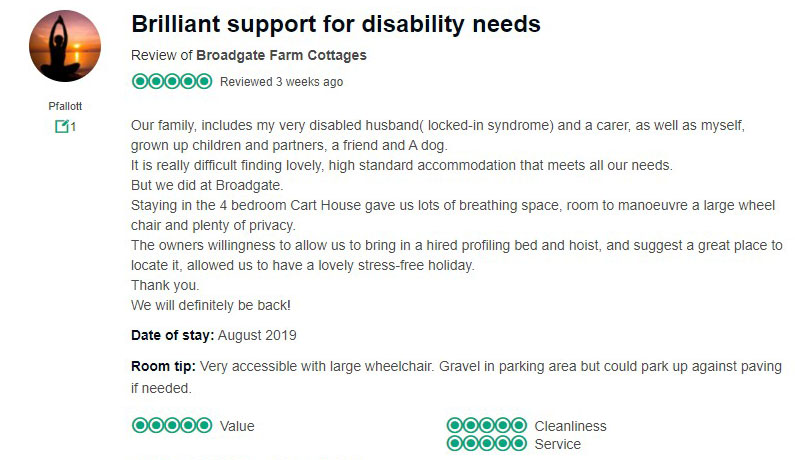 Review from Trip Advisor